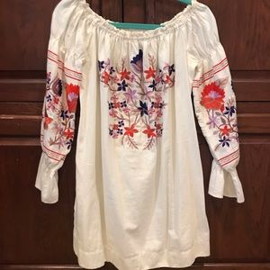 Free People mini dress/tunic - embroidered size S